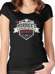 Murdock's Blind Fury Fight Club - Dist Red/White V03 Women's Fitted Scoop T-Shirt