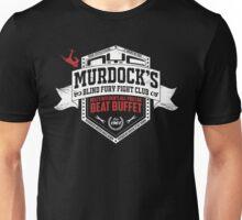 Murdock's Blind Fury Fight Club - Dist Red/White V03 Unisex T-Shirt