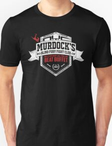 Murdock's Blind Fury Fight Club - Dist Red/White V03 T-Shirt