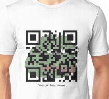 Scan here for dank memes Unisex T-Shirt