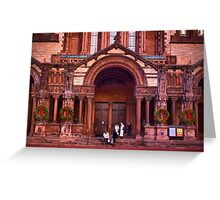 Christmas at Trinity Church  of Boston  Greeting Card