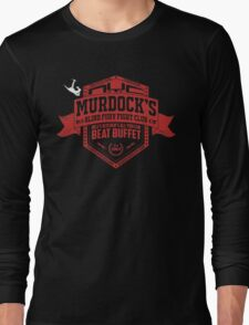 Murdock's Blind Fury Fight Club - Dist Red/White Long Sleeve T-Shirt