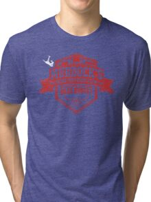 Murdock's Blind Fury Fight Club - Dist Red/White Tri-blend T-Shirt
