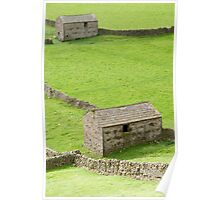 Barns in the Dales Poster
