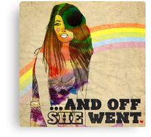 ...and off she went ♥ Canvas Print