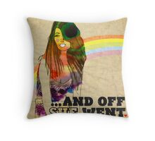 ...and off she went ♥ Throw Pillow