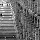 Aqueduct and Stairs by villrot