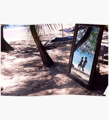Lone Star Beach, Barbados Poster