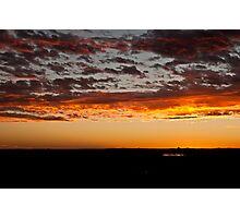 Block Ten Sunset Photographic Print