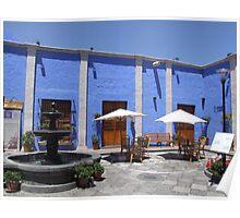 Blue courtyard Poster