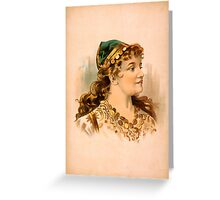 Portrait of a Blond Woman Greeting Card