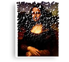 Mona Lisa on the Wall Canvas Print
