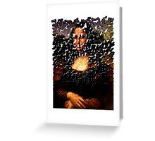 Mona Lisa on the Wall Greeting Card