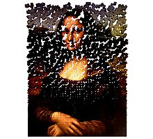 Mona Lisa on the Wall Photographic Print