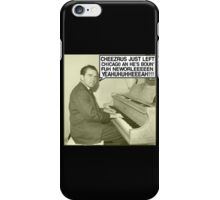 Richard Nixon sings Cheezrus Just Left Chicago iPhone Case/Skin