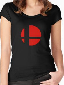 Super Smash Bros Icon Women's Fitted Scoop T-Shirt