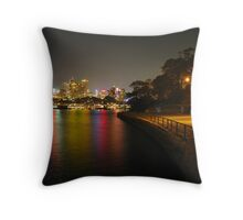 Night at Blues Point Reserve Throw Pillow