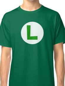 Super Mario Luigi Icon Classic T-Shirt