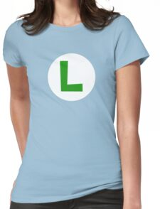 Super Mario Luigi Icon Womens Fitted T-Shirt