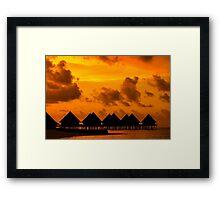 Golden Sunset in the Maldives Framed Print