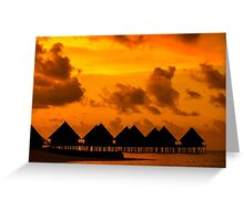 Golden Sunset in the Maldives Greeting Card