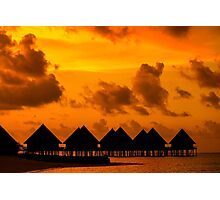 Golden Sunset in the Maldives Photographic Print