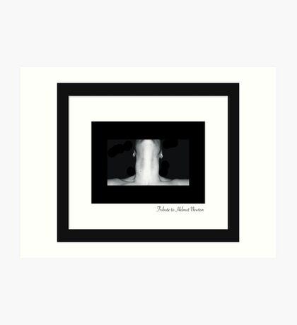 October - Helmut Newton Art Print