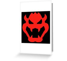 Super Mario Bowser Icon Greeting Card
