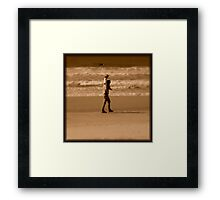 Sepia Extravaganza : Father And Daughter Framed Print