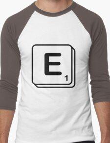 E scrabble print Men's Baseball ¾ T-Shirt