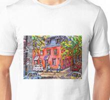 KIDS BASEBALL PAINTING FUN TIME ON QUIET MONTREAL STREET BEST CANADIAN ART Unisex T-Shirt