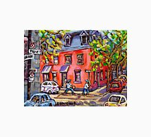 KIDS BASEBALL PAINTING FUN TIME ON QUIET MONTREAL STREET BEST CANADIAN ART Unisex T-Shirt