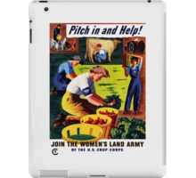Join The Women's Land Army -- WWII iPad Case/Skin