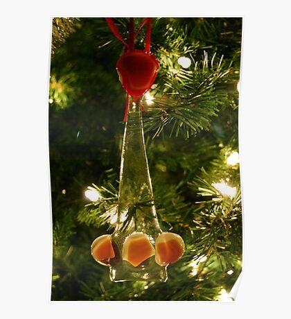 Glass Christmas Ornament Poster