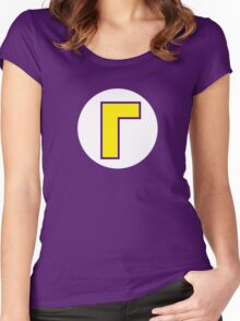 Super Mario Waluigi Icon Women's Fitted Scoop T-Shirt