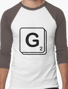 G scrabble print Men's Baseball ¾ T-Shirt