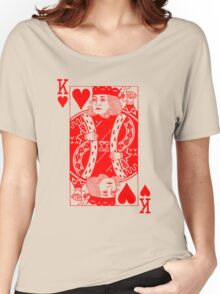 KING OF HEARTS-RED Women's Relaxed Fit T-Shirt