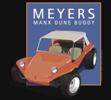 Dune Buggy Manx Orange Blue Box by Frank Schuster