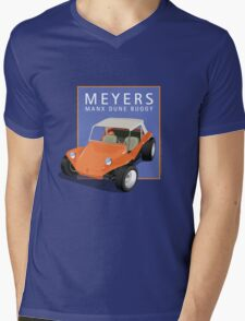 Dune Buggy Manx Orange Blue Box Mens V-Neck T-Shirt