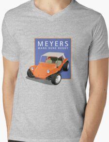Dune Buggy Manx Orange Blue Box Mens V-Neck T-Shirt