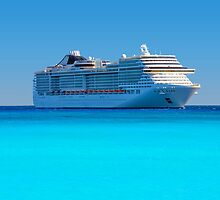 Luxury cruise ship in the Caribbean by Digital Editor .