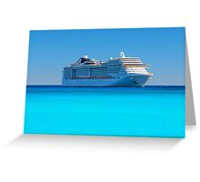 Luxury cruise ship in the Caribbean Greeting Card