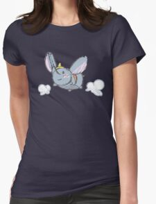 Fly like an Elephant Womens Fitted T-Shirt
