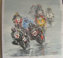 riders in the rain by suelong