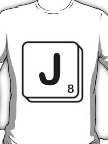 J scrabble print T-Shirt