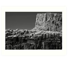 Cliffs, Isle of Staffa, Scotland Art Print