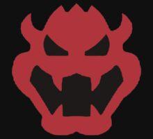 Super Mario Bowser Icon Kids Tee