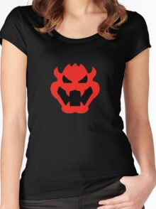 Super Mario Bowser Icon Women's Fitted Scoop T-Shirt