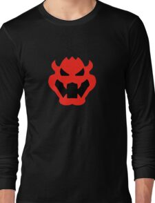 Super Mario Bowser Icon Long Sleeve T-Shirt