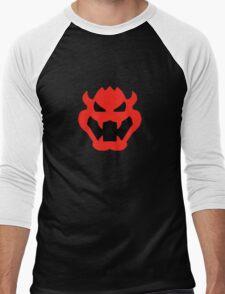 Super Mario Bowser Icon Men's Baseball ¾ T-Shirt
